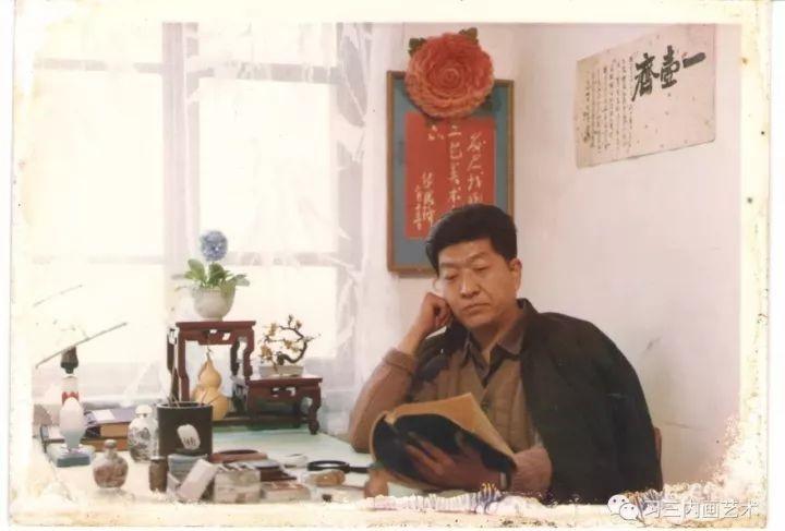 冀派內畫泰斗鼻煙壺內畫大師王習三 - 1981年,王习三在一壶斋横幅下