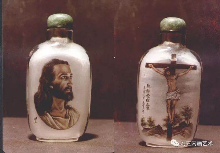 冀派內畫泰斗鼻煙壺內畫大師王習三 - 1981年,王习三首次用油画技法 绘制的《耶稣受难之像》