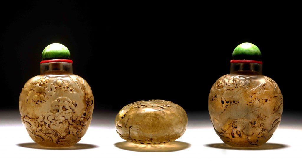 水晶雕代代封侯英雄鼻煙壺 | Rock Crystal Snuff Bottles | 治潁珍藏 | ZhiYing Collection