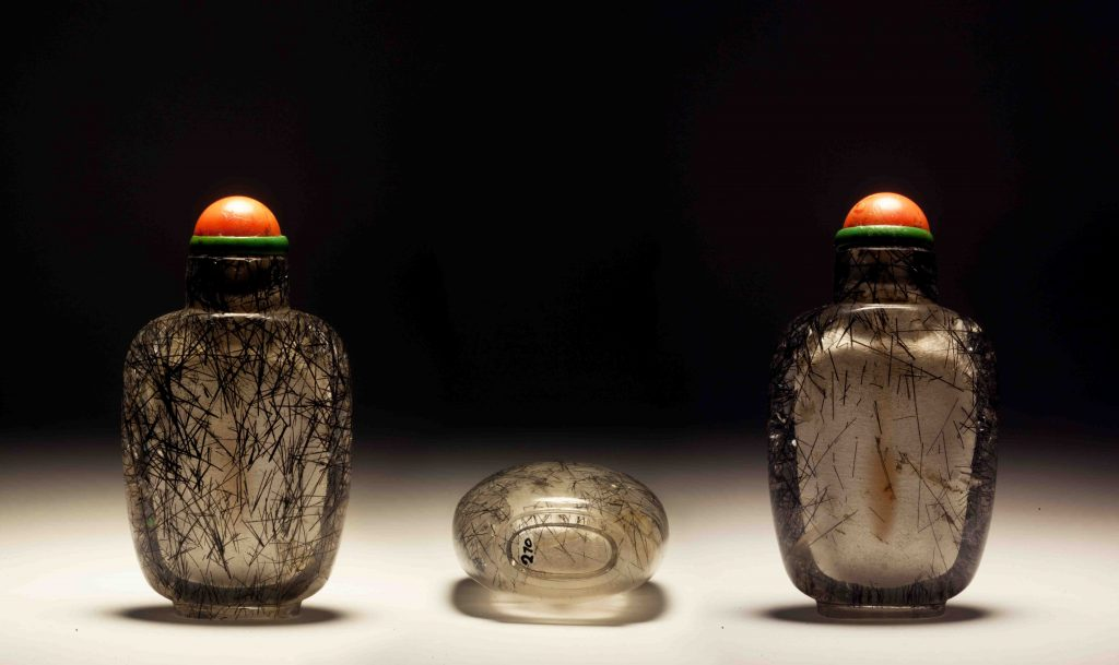 髮晶素鼻煙壺 | Hair Crystal Plain Snuff Bottles | 治潁珍藏 | ZhiYing Collection
