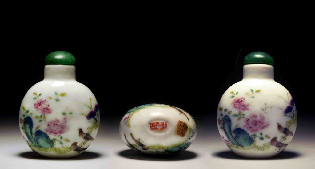 道光瓷胎粉彩富贵和平鼻烟壶 | Enameled Procelain Peace and Happiness Snuff Bottles | 治潁珍藏 | ZhiYing Collection