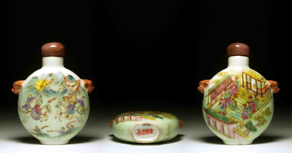 道光瓷胎粉彩張格爾之亂鼻烟壶   Dao Guang Enameled Procelain - Zhang Ge'Er Battle Snuff Bottles   治潁珍藏   ZhiYing Collection